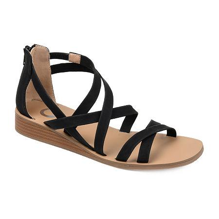 Journee Collection Womens Lanza Slip-On Shoe, 8 Medium, Black