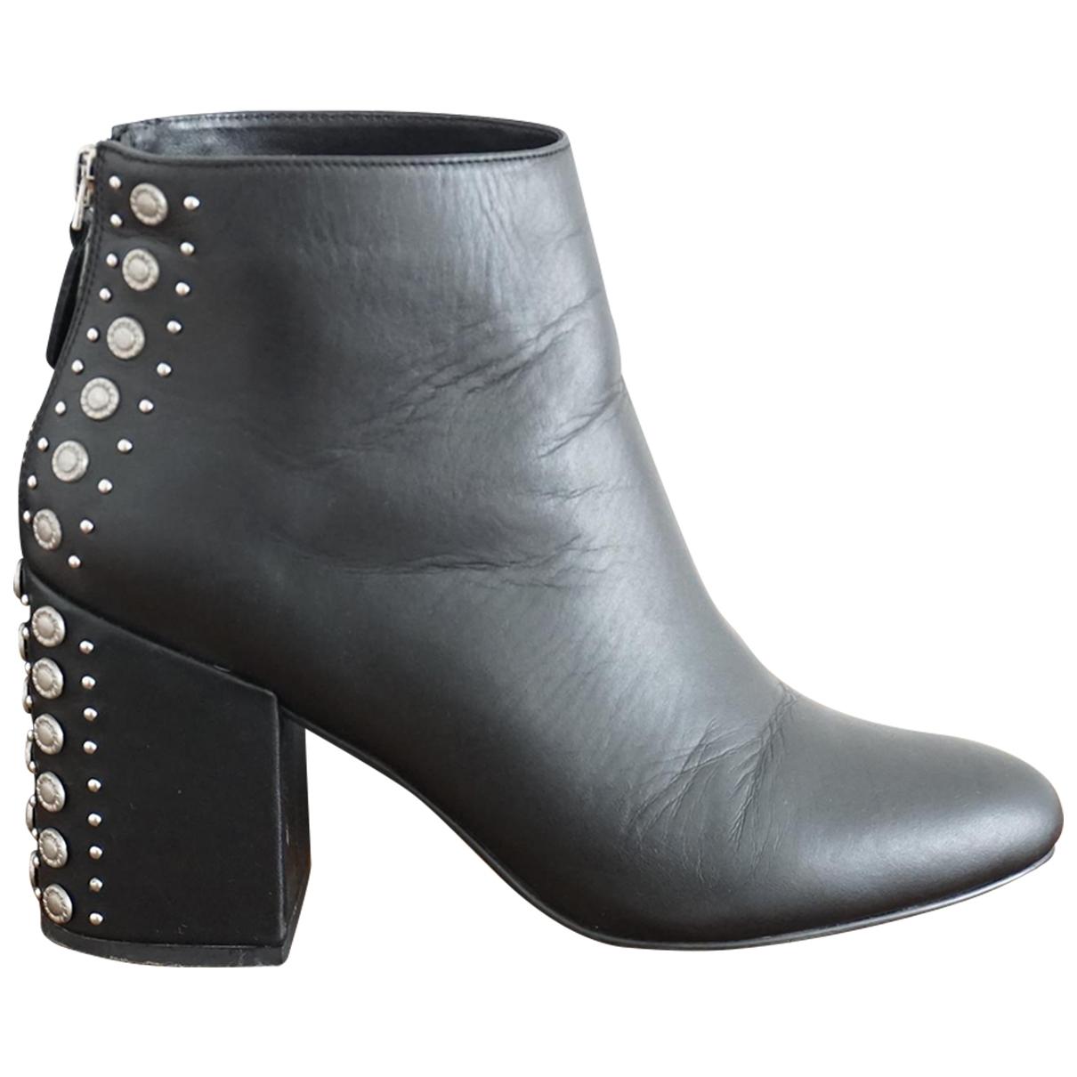 Senso - Boots   pour femme en cuir - noir