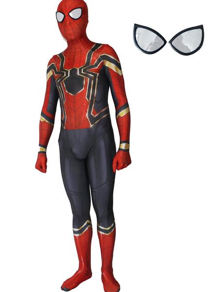 Milanoo Halloween Carnaval Spider-Man Cosplay Spider Man Pelicula roja Lycra Spandex Mono Leotardo Marvel Comics