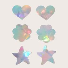 3 pares cubierta de pezon en forma de estrella