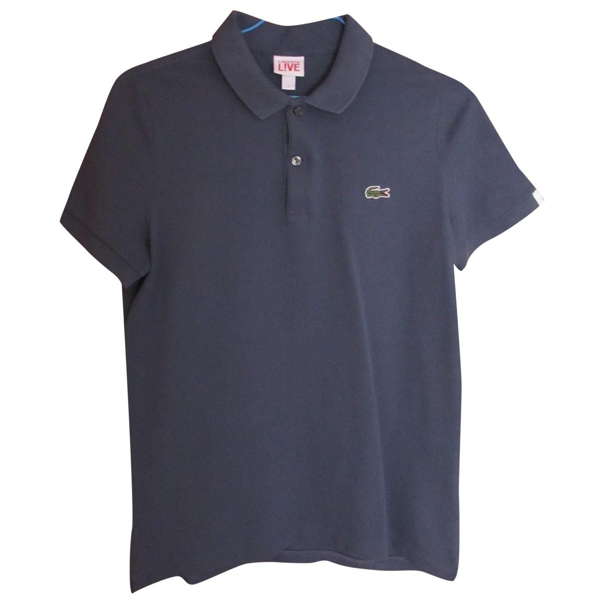 Lacoste Live - Polos   pour homme en coton - bleu