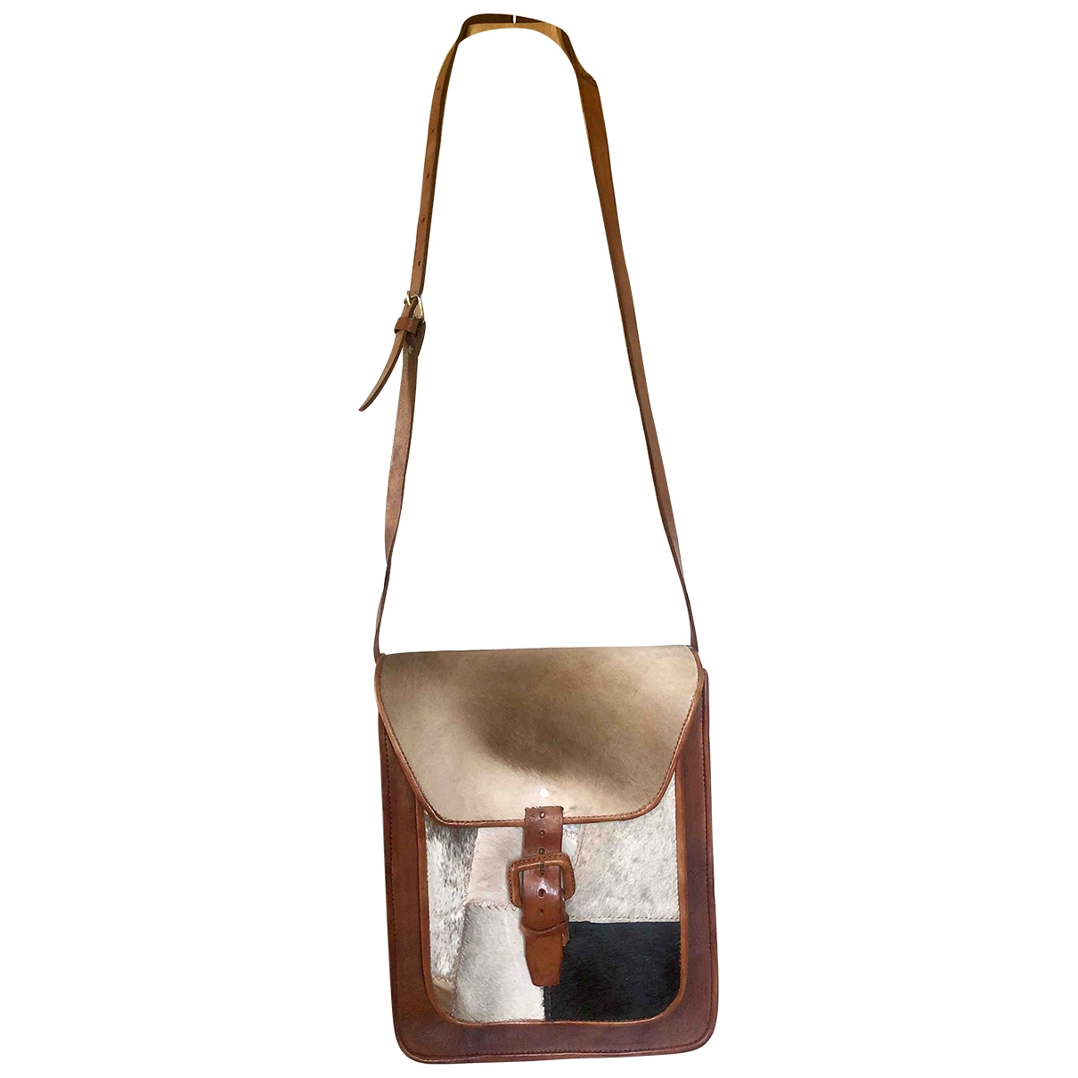 Non Signé / Unsigned \N Brown Pony-style calfskin handbag for Women \N