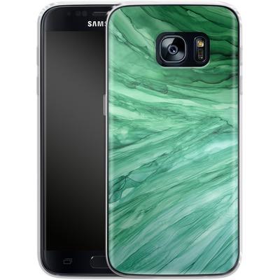 Samsung Galaxy S7 Silikon Handyhuelle - Emerald von Becky Starsmore