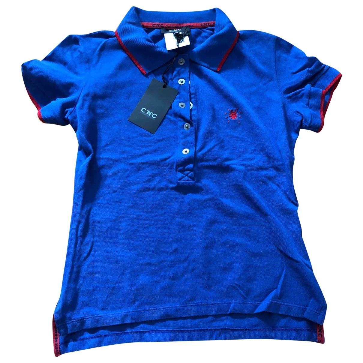 Cnc \N Top in  Blau Baumwolle