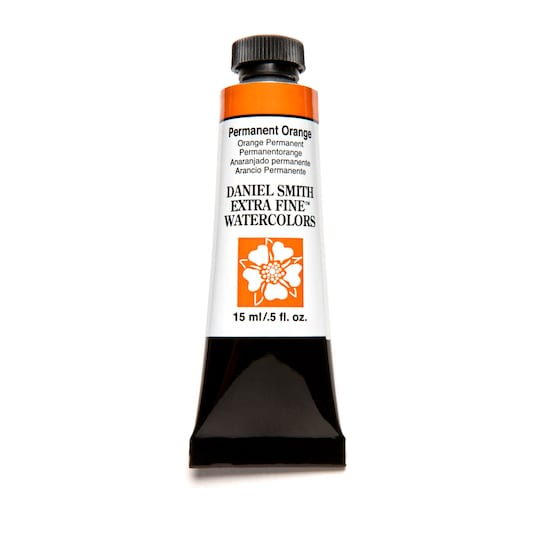 Daniel Smith Extra Fine™ Watercolor, 15 ml Paint in Permanent Orange | Michaels®