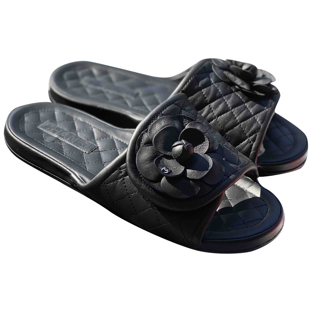Chanel \N Black Leather Sandals for Women 40 EU