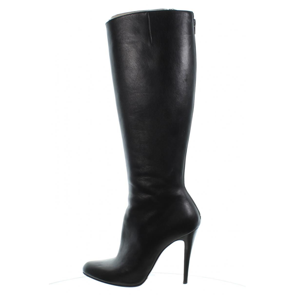 Christian Louboutin \N Black Leather Heels for Women 40 EU