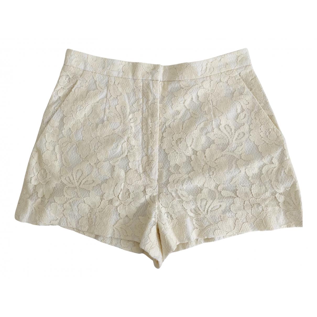 Sandro \N Shorts in  Weiss Baumwolle