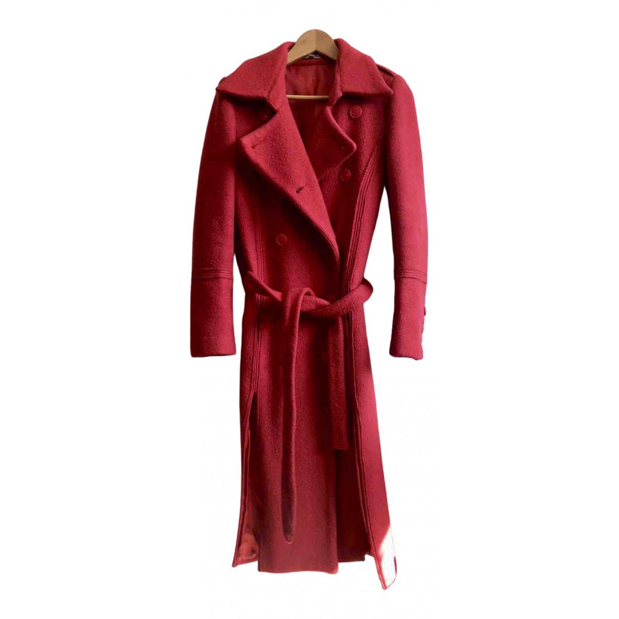 American Retro - Manteau   pour femme en laine - rose