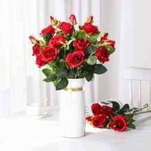 1 Zweig Kuenstliche Rose & 2 Stuecke Kopf