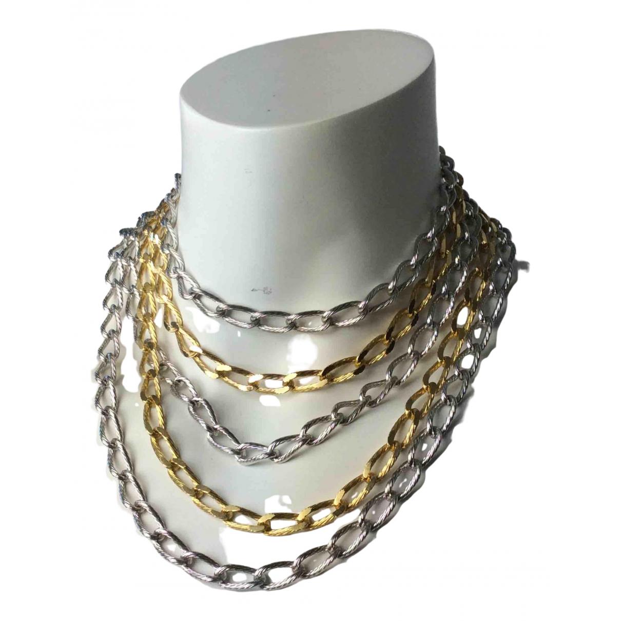 Christian Dior - Collier   pour femme en metal - metallise