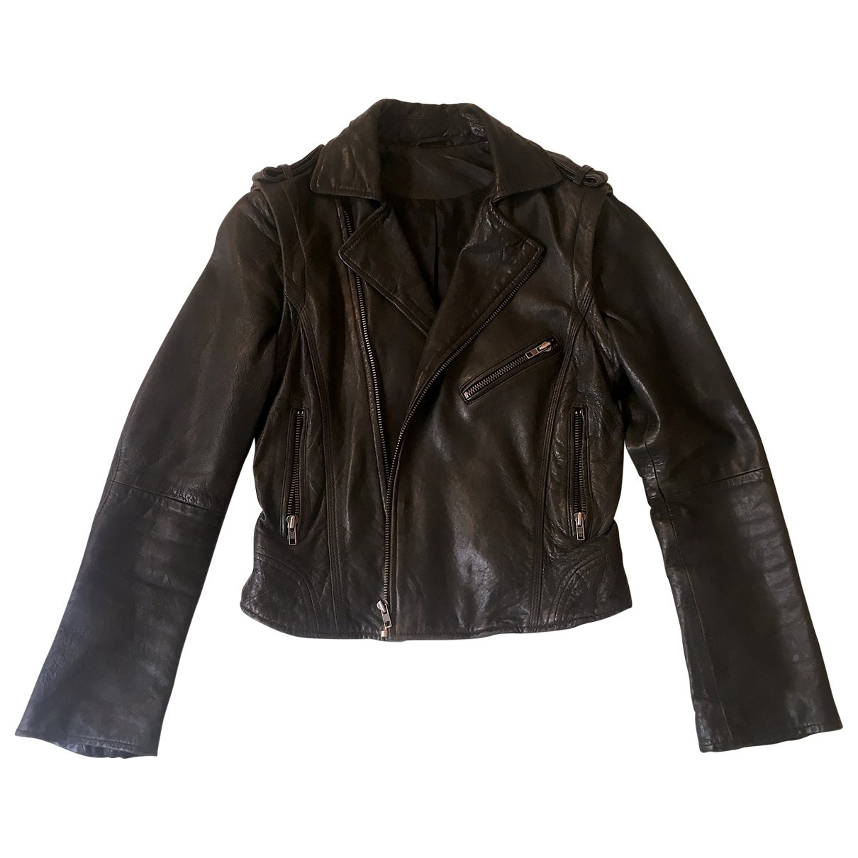 Zadig & Voltaire \N Black Leather Leather jacket for Women S International