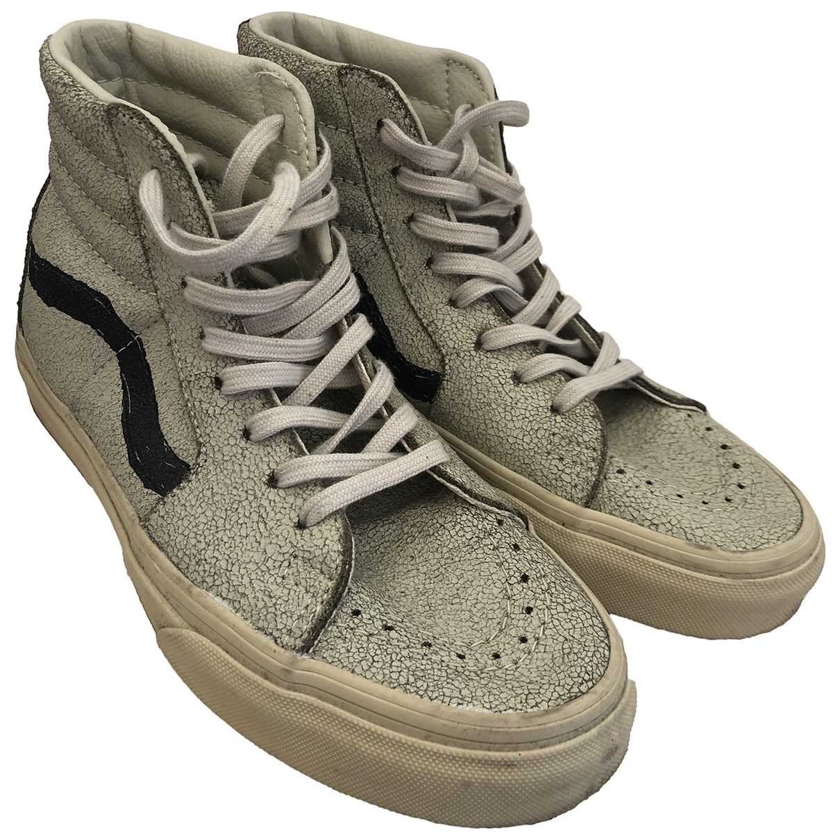 Vans \N Grey Leather Trainers for Women 36 EU