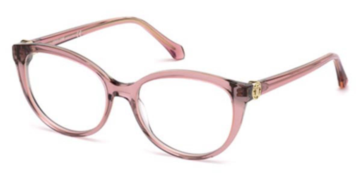 Roberto Cavalli RC 5073 081 Women's Glasses Pink Size 52 - Free Lenses - HSA/FSA Insurance - Blue Light Block Available