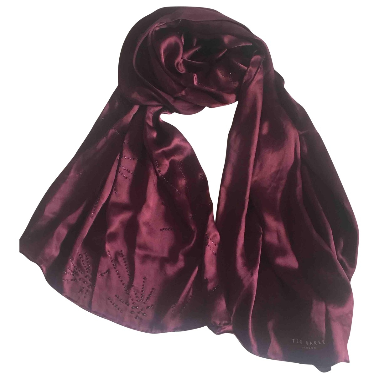Ted Baker \N Burgundy Silk scarf for Women \N
