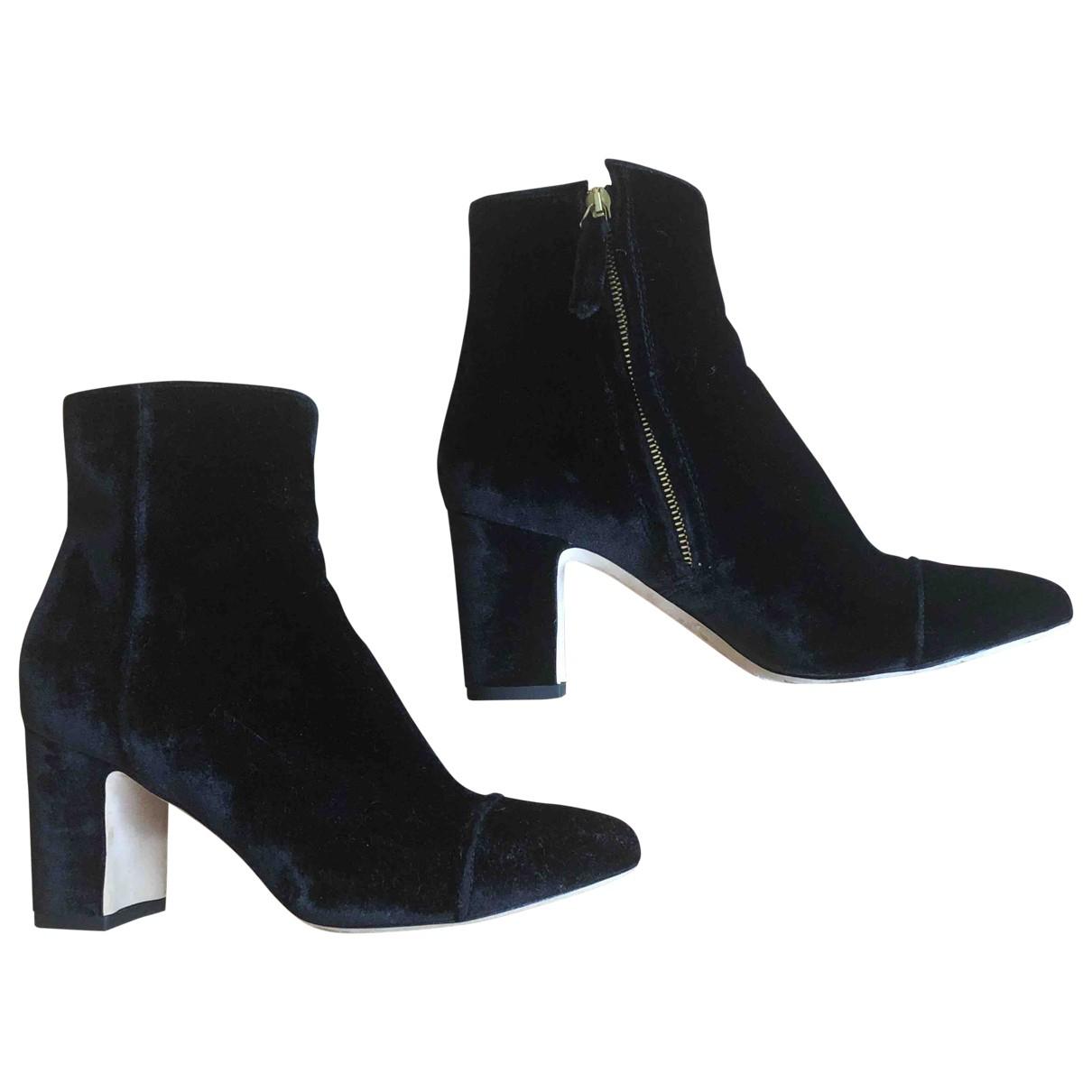 Polly Plume \N Black Velvet Boots for Women 39 EU