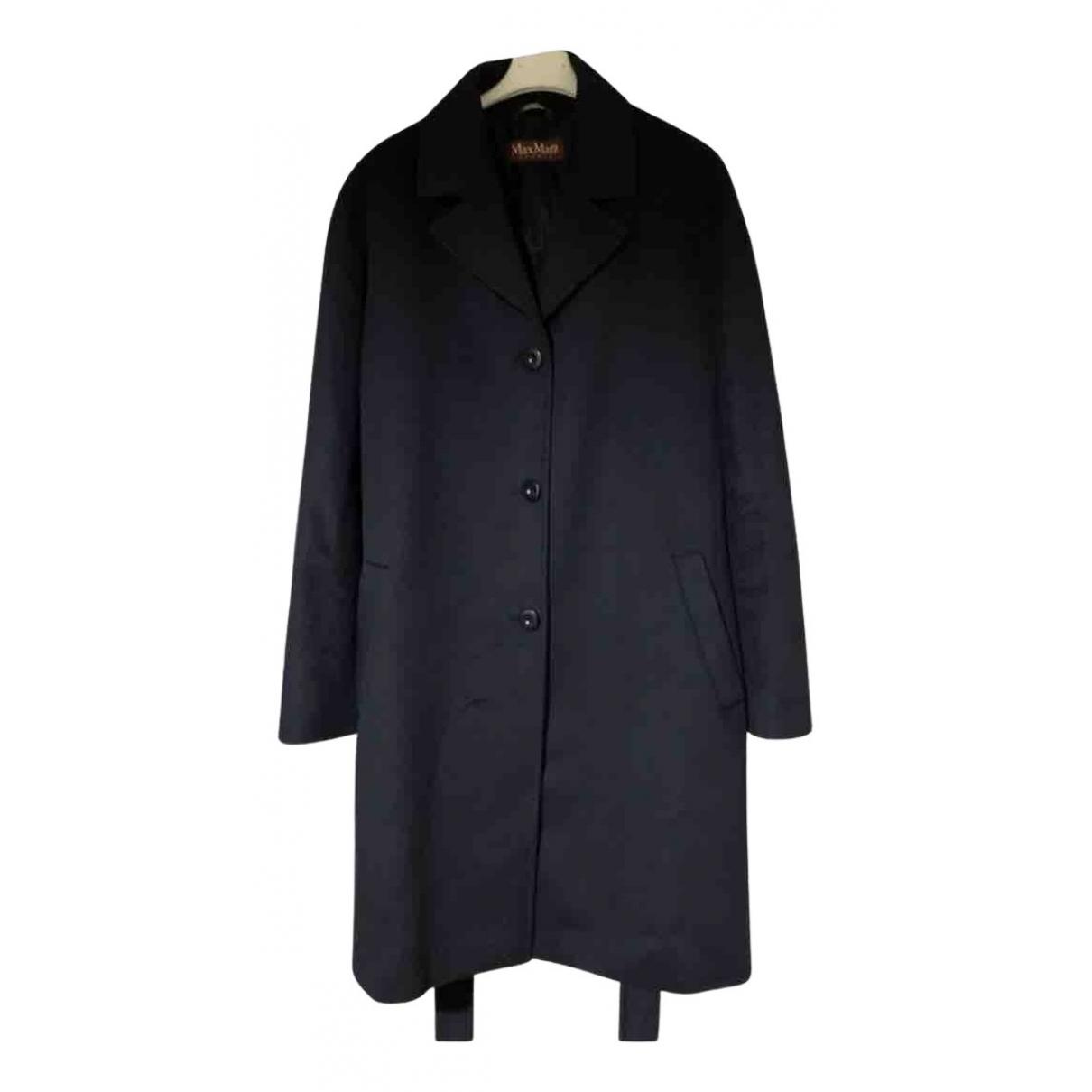 Max Mara Studio - Manteau   pour femme en laine - bleu