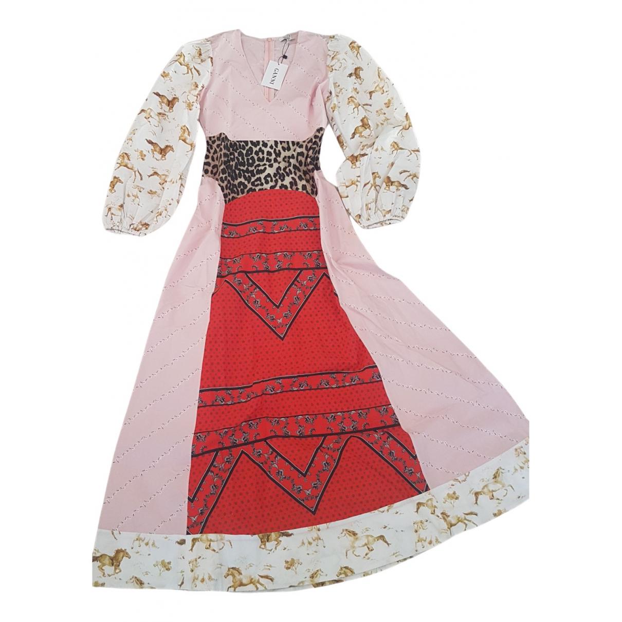 Ganni Spring Summer 2019 Kleid in  Bunt Baumwolle