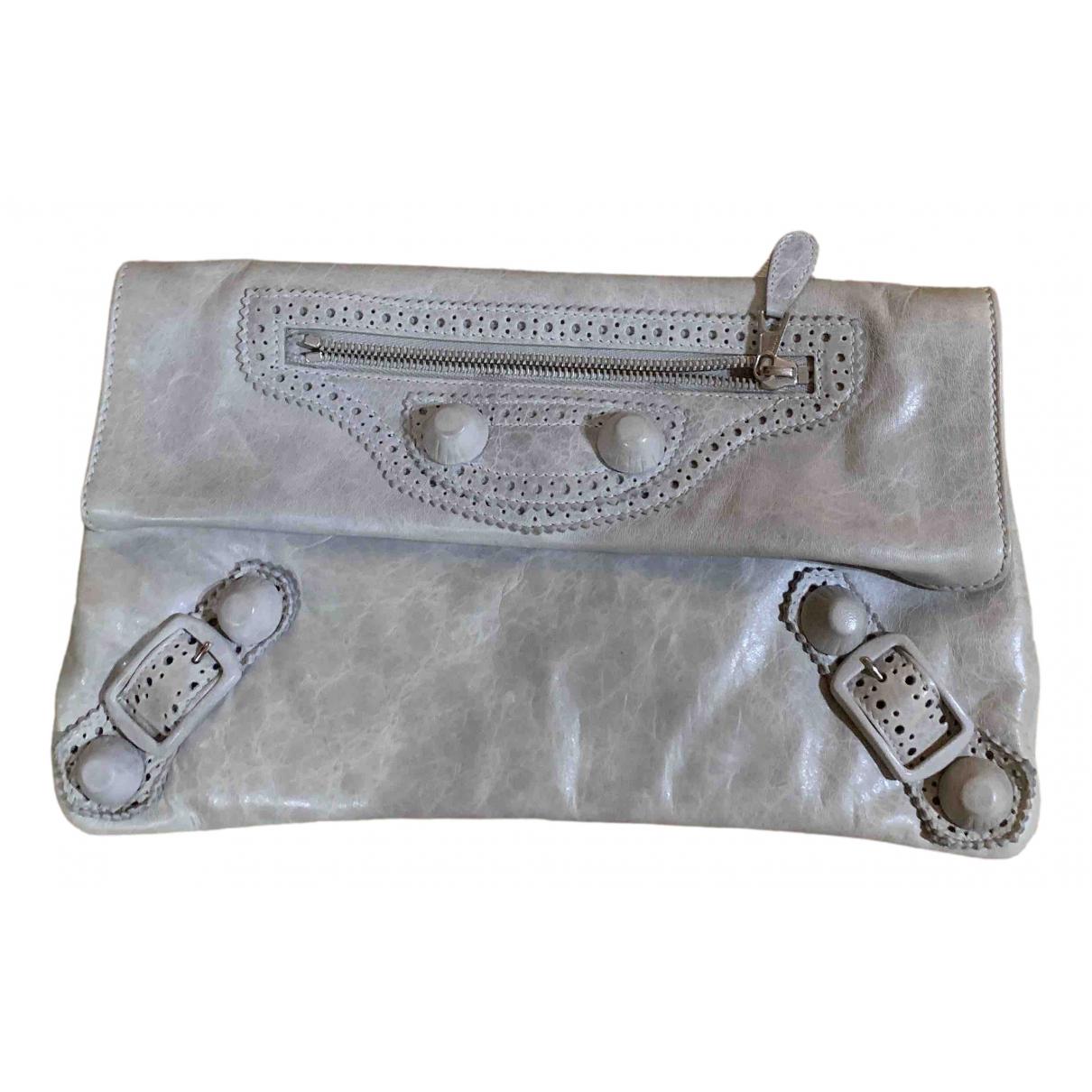 Balenciaga Envelop Grey Leather Clutch bag for Women \N