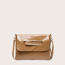 Minimalist Flap Crossbody Bag With Handle