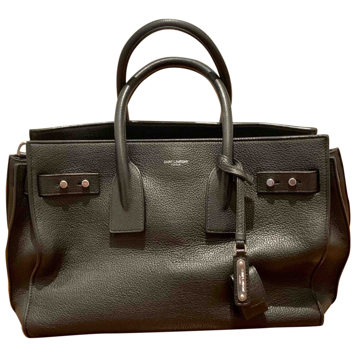 Saint Laurent Sac de Jour Black Leather handbag for Women \N