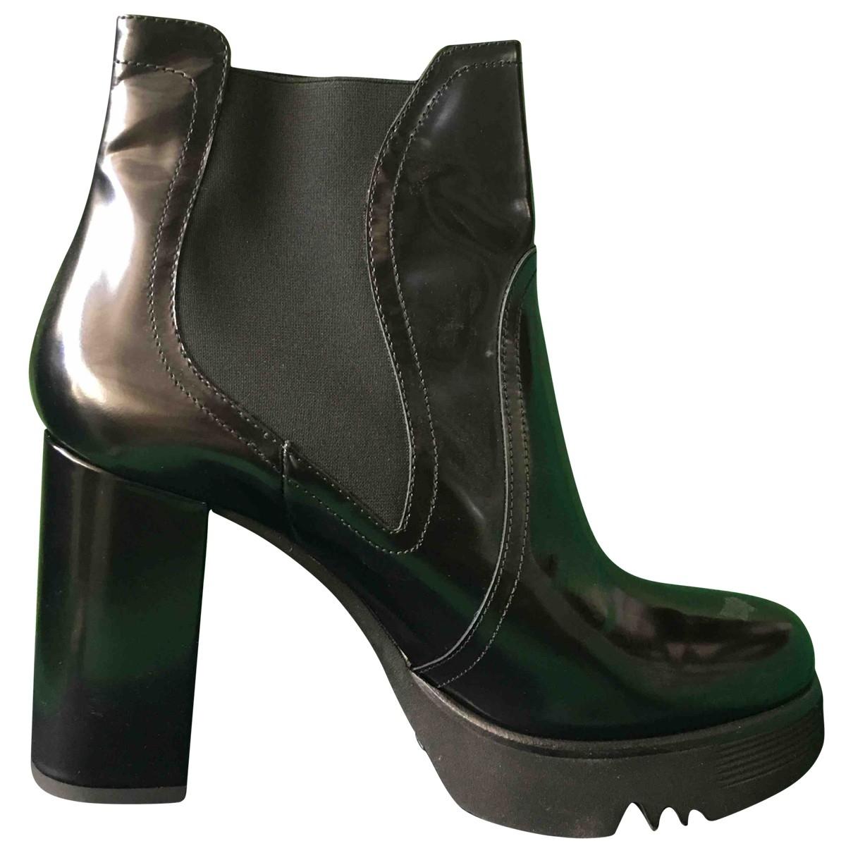 Alberto Guardiani - Boots   pour femme en fourrure - noir