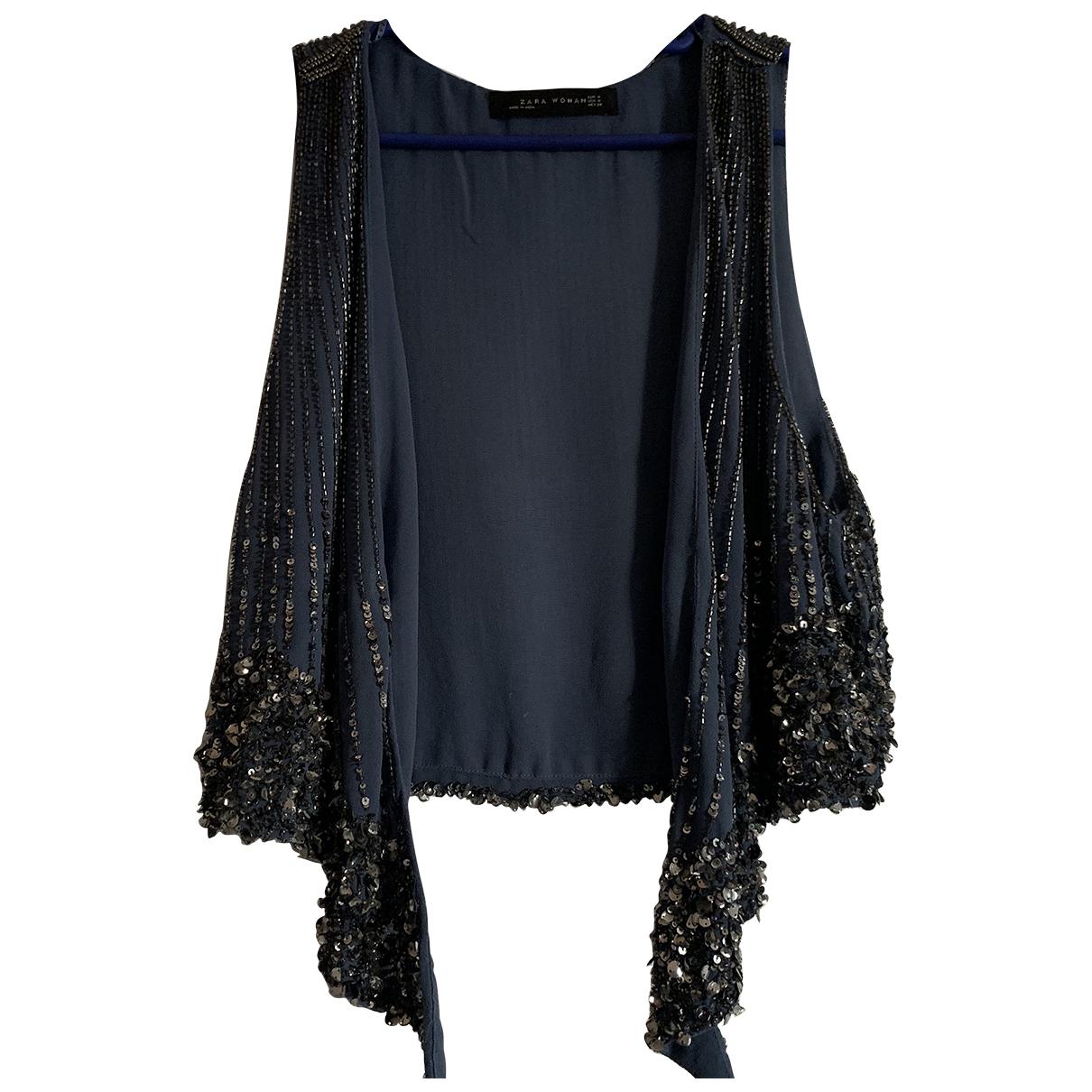 Zara N Blue Cotton  top for Women M International