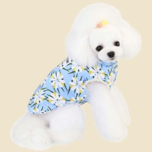Hund Jacke mit Blumen Muster