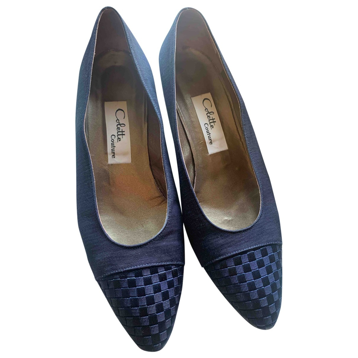 Non Signé / Unsigned \N Blue Leather Heels for Women 38.5 EU