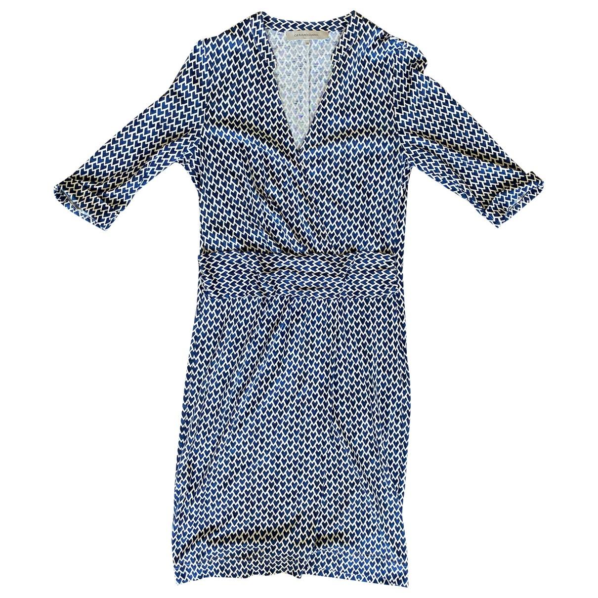 Gerard Darel - Robe   pour femme en soie - bleu