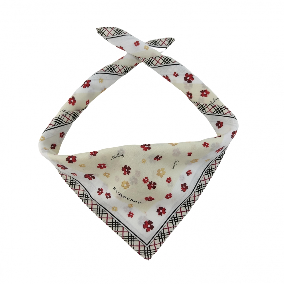 Burberry \N Multicolour Cotton scarf & pocket squares for Men \N