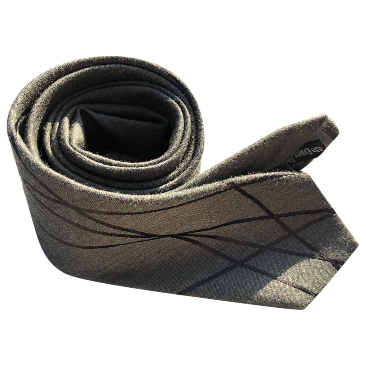 Emporio Armani \N Krawatten in  Khaki Wolle