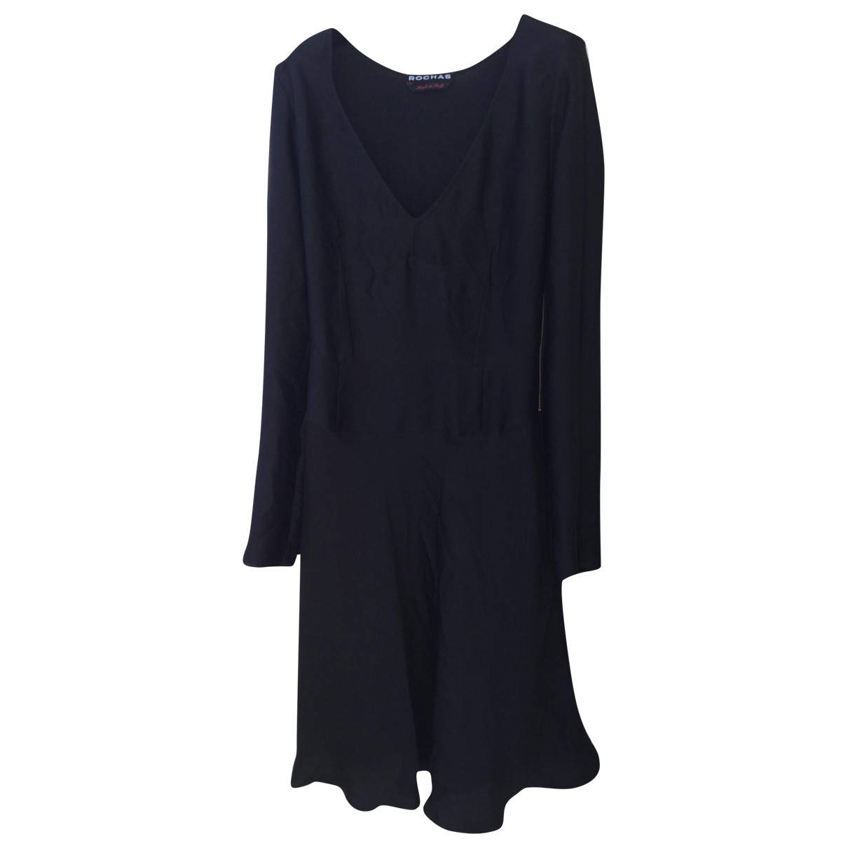 Rochas \N Black Silk dress for Women 42 IT