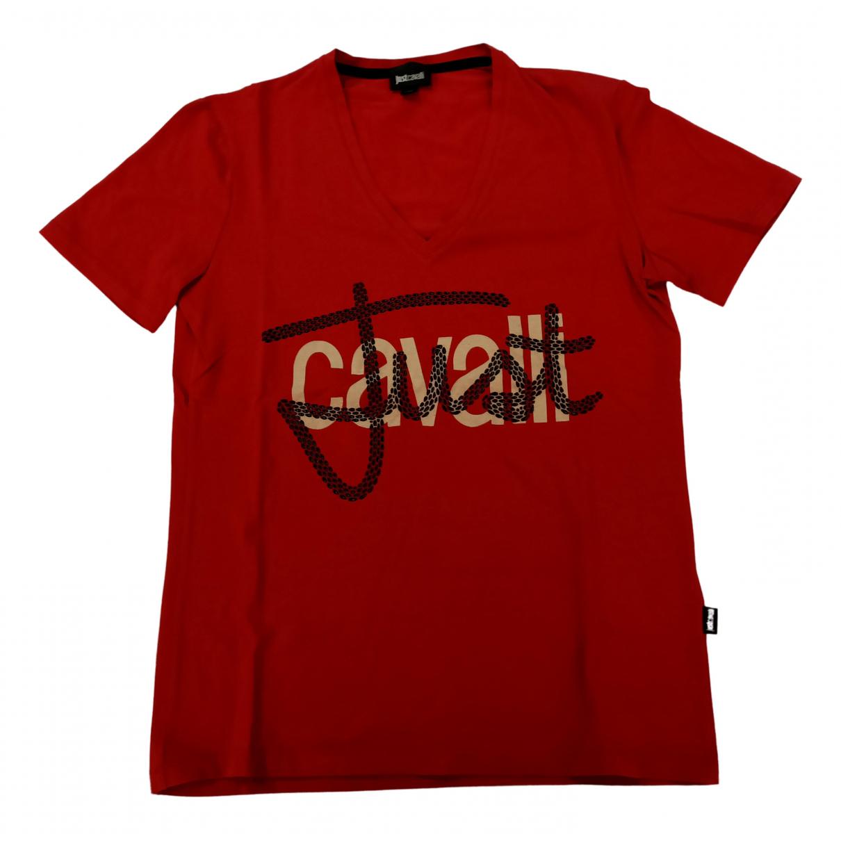 Roberto Cavalli N Red Cotton T-shirts for Men M International