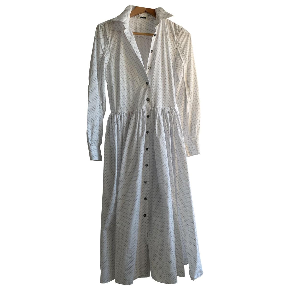 Jourden \N Kleid in  Weiss Baumwolle