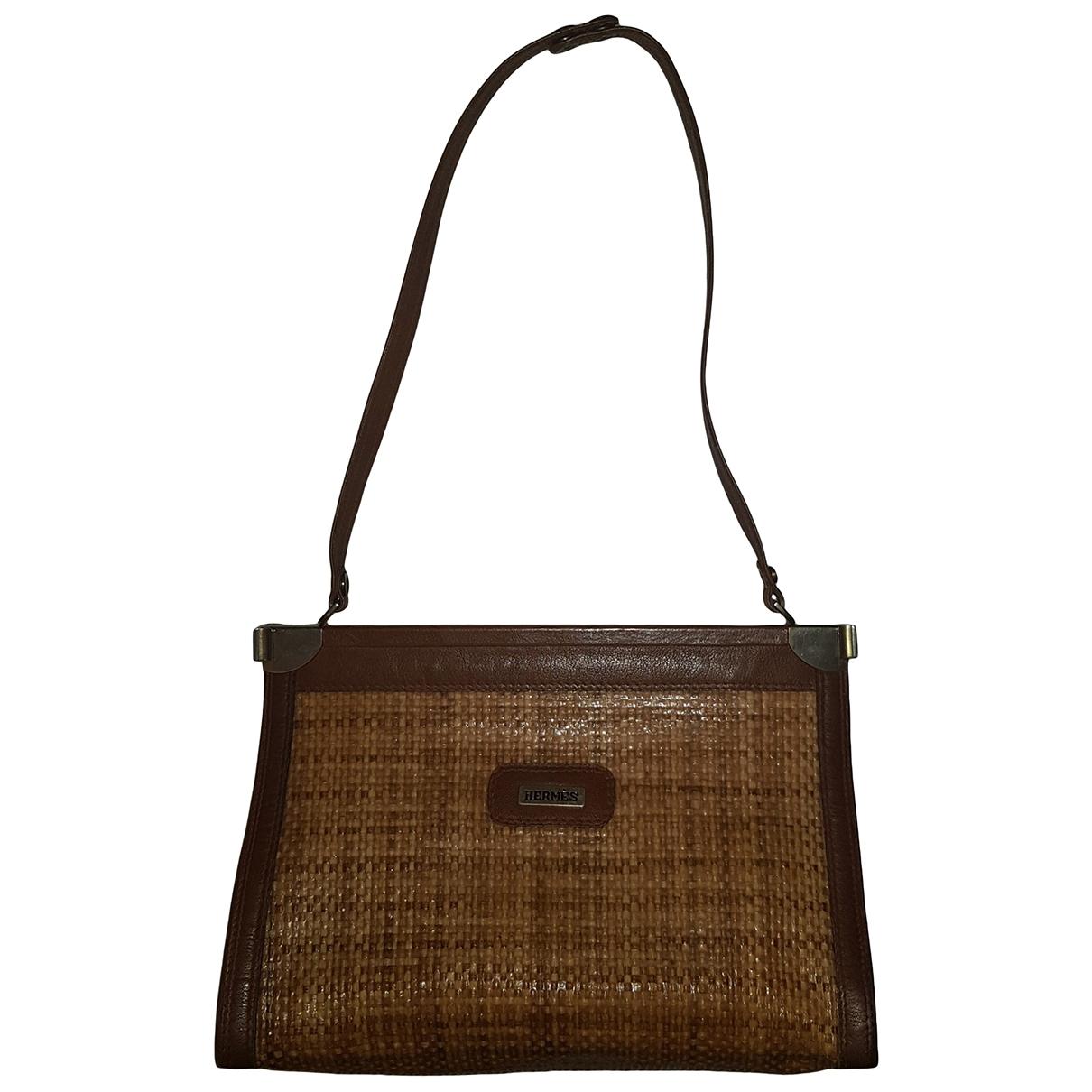 Hermes \N Handtasche in  Kamel Stroh