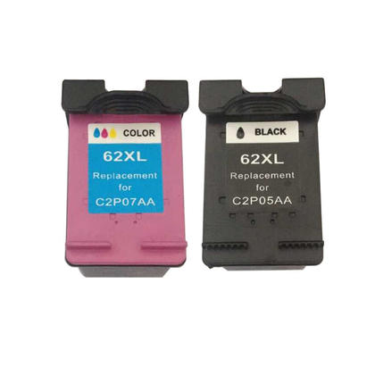 Compatible HP ENVY 5663 e-All-in-One HP 62XL Black and Tri-color Ink Cartridge Combo High Yield - Economical Box