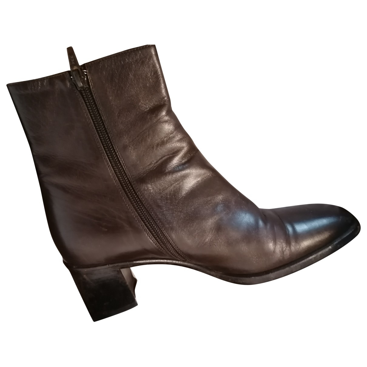 Carel \N Brown Leather Ankle boots for Women 37 EU