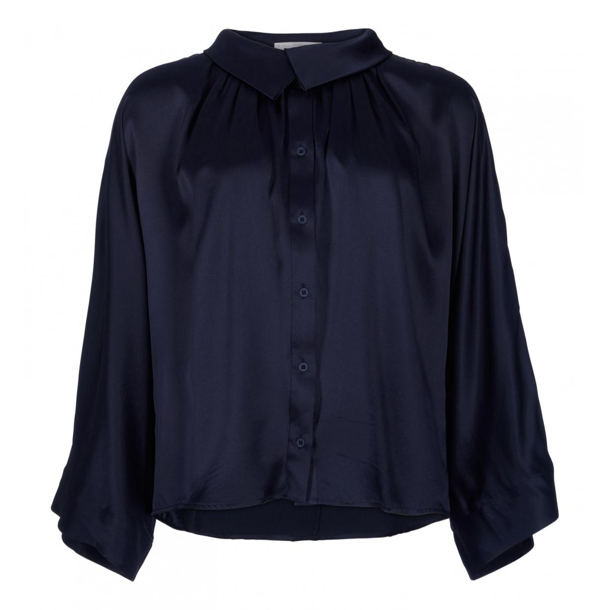 Stella Mccartney - Top   pour femme en soie - bleu