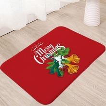 Christmas Slogan Print Floor Mat
