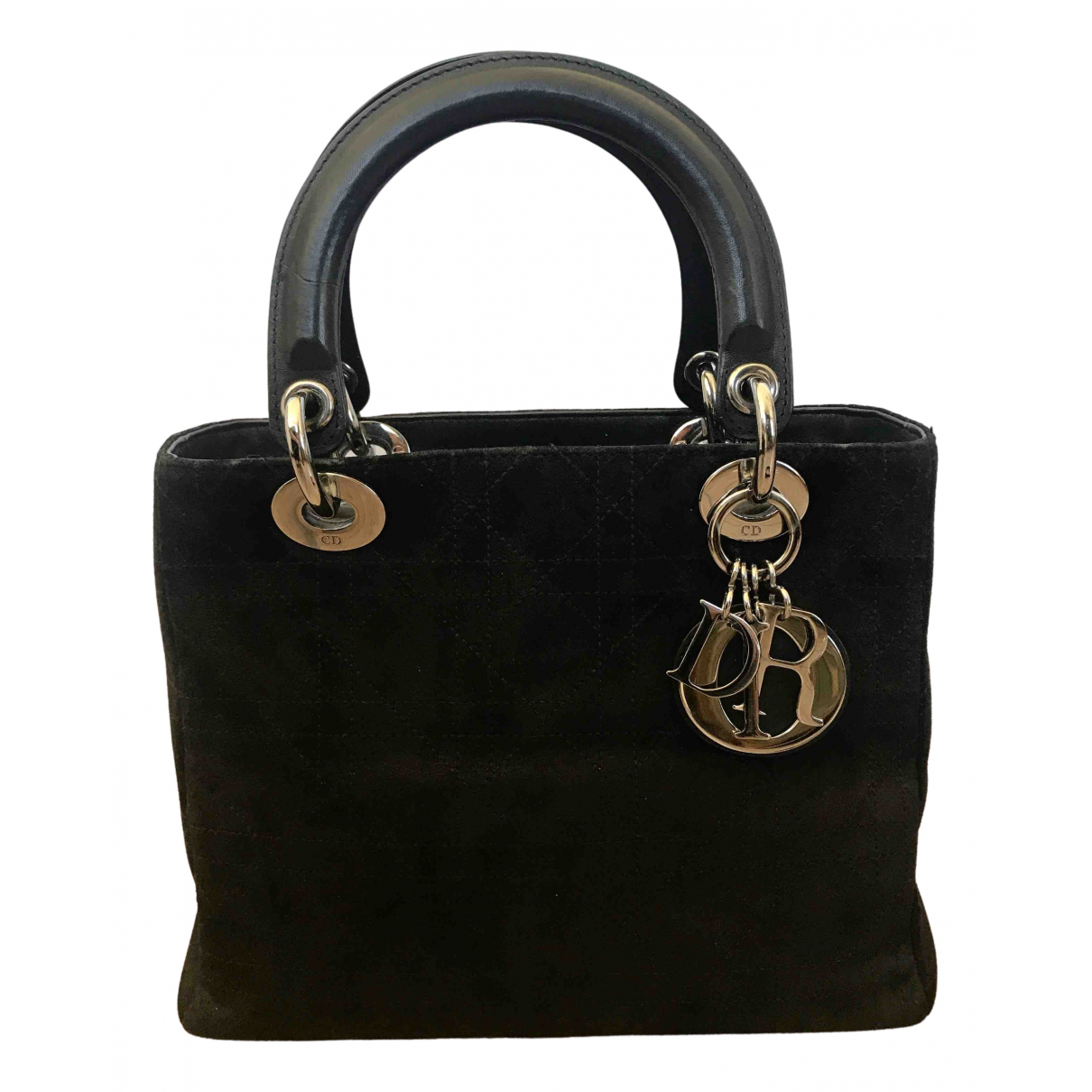 Dior - Sac a main Lady Dior pour femme en suede - noir