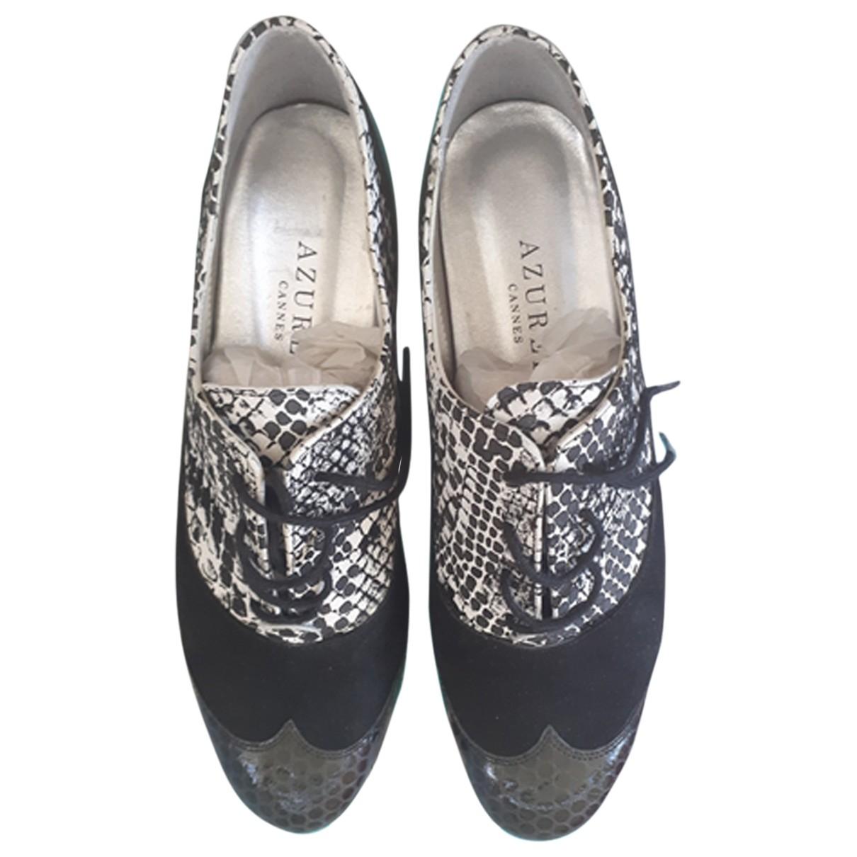 Richelieu \N Black Leather Lace ups for Women 37 EU