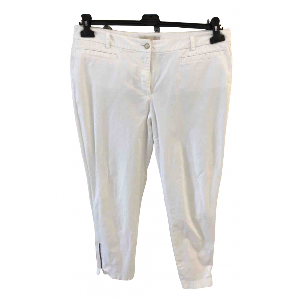Michael Kors N White Cotton Trousers for Women 12 US