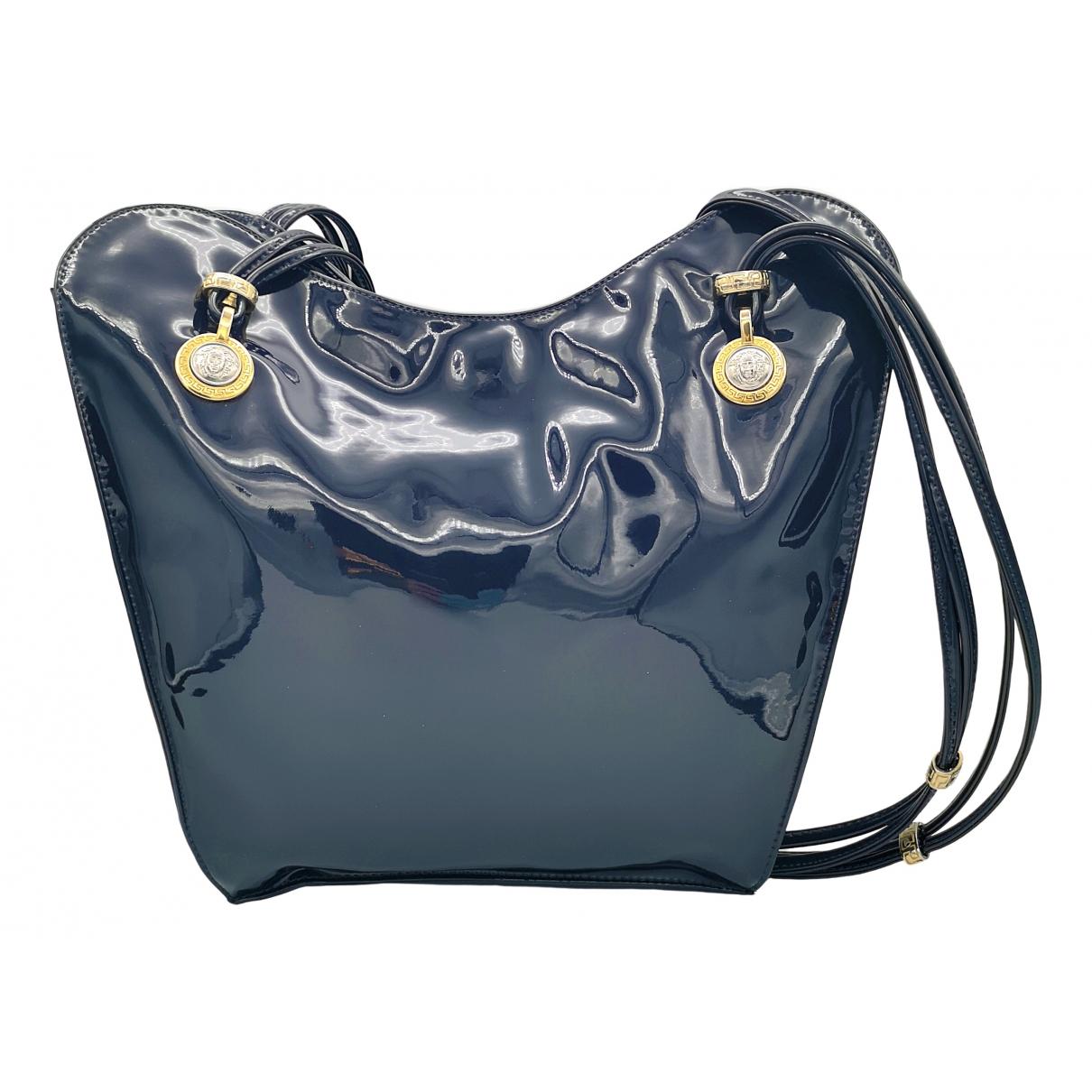 Gianni Versace \N Blue Patent leather handbag for Women \N