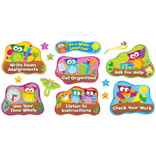 Owl-Stars® Study Habits Bulletin Board Set By Trend | Michaels®