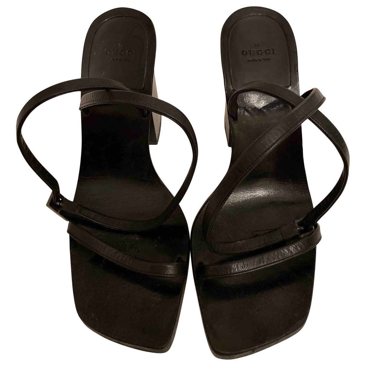 Gucci \N Black Leather Sandals for Women 36 EU