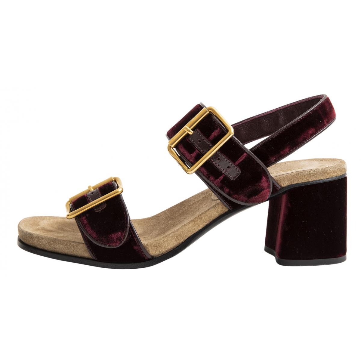 Sandalias romanas de Terciopelo Prada