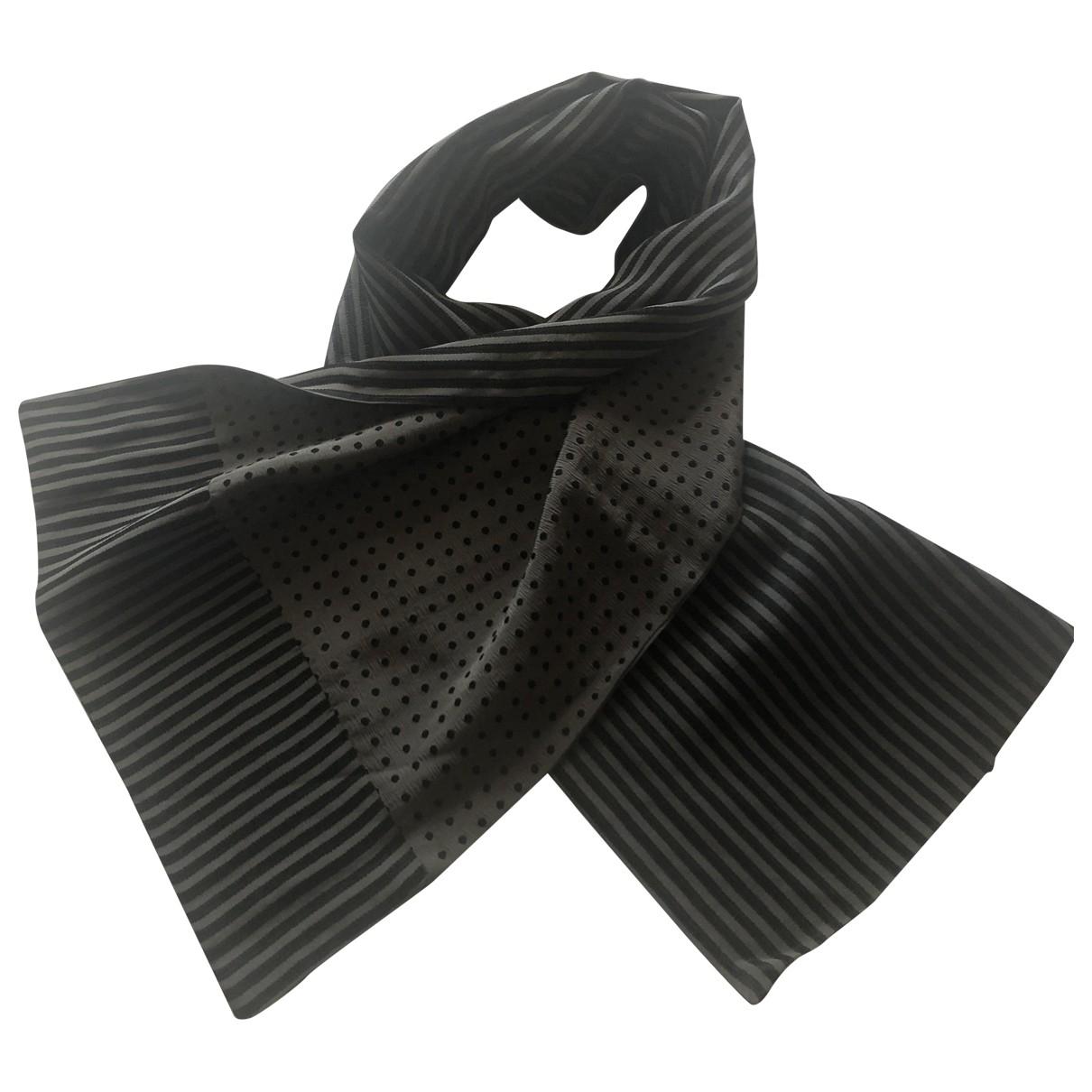 Giorgio Armani - Cheches.Echarpes   pour homme en soie - gris