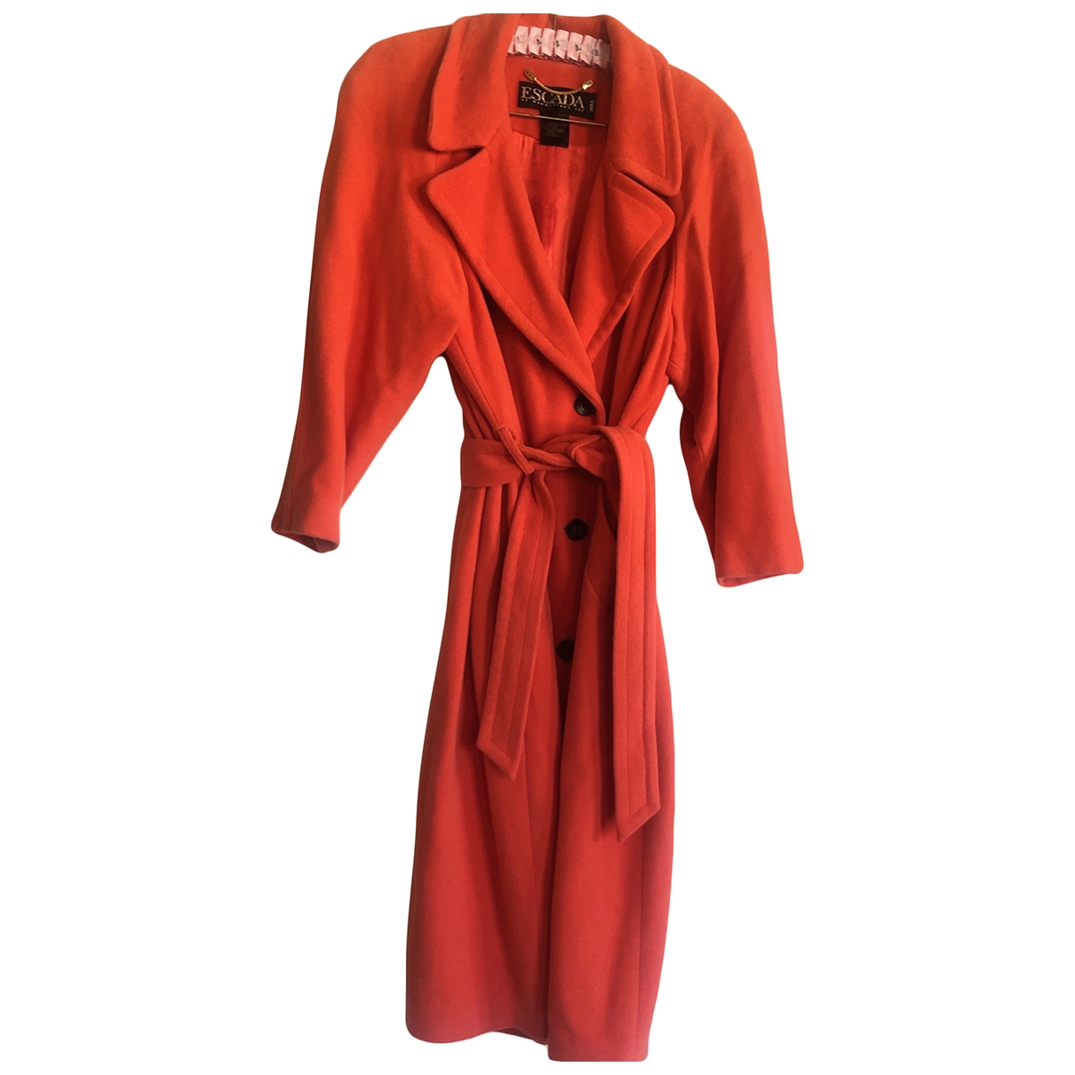 Escada \N Orange Wool coat for Women 36 FR