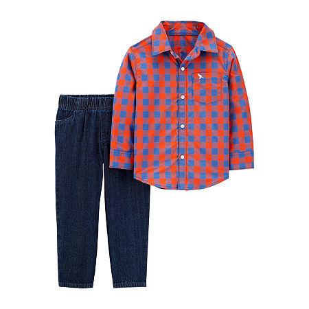 Carter's Toddler Boys 2-pc. Plaid Pant Set, 2t , Blue